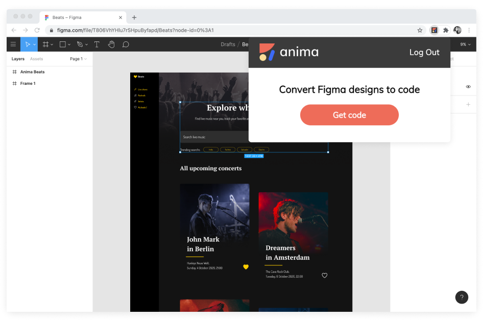 Anima Chrome Extension for Figma