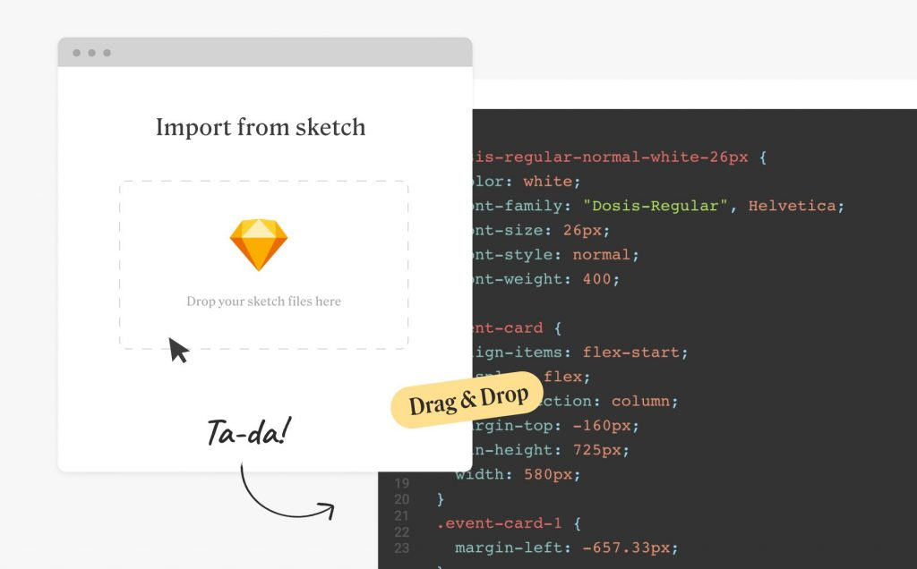 Import a Sketch design file to Anima