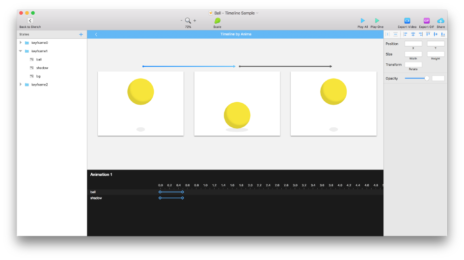 Step 2: You are now in Anima Animation Editor