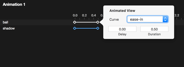 Drag & drop to play with timing, right-click for curving with Anima