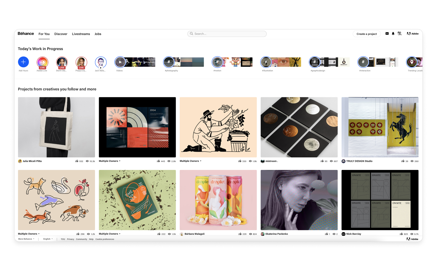 Behance, an inspiration hub for every product designer