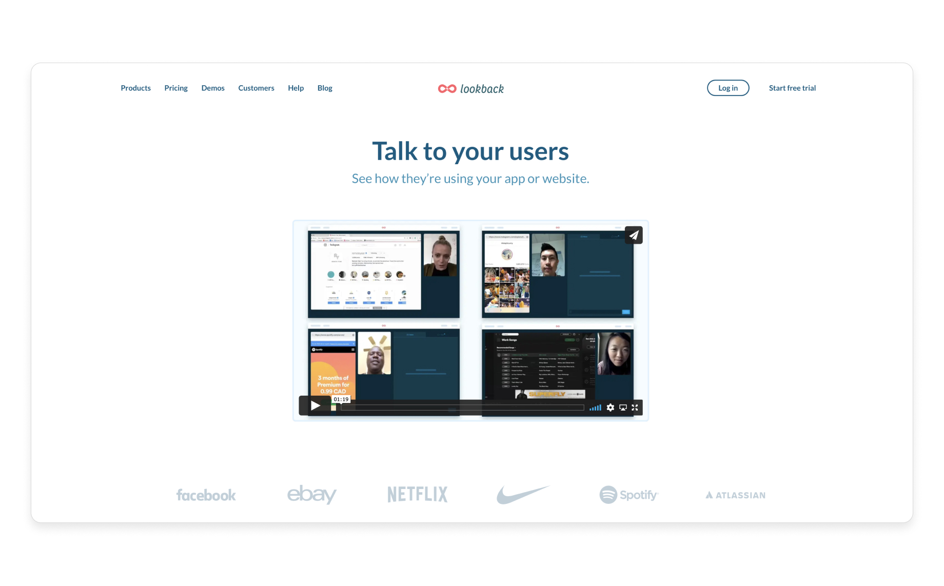 Communicate & interview users in real-time