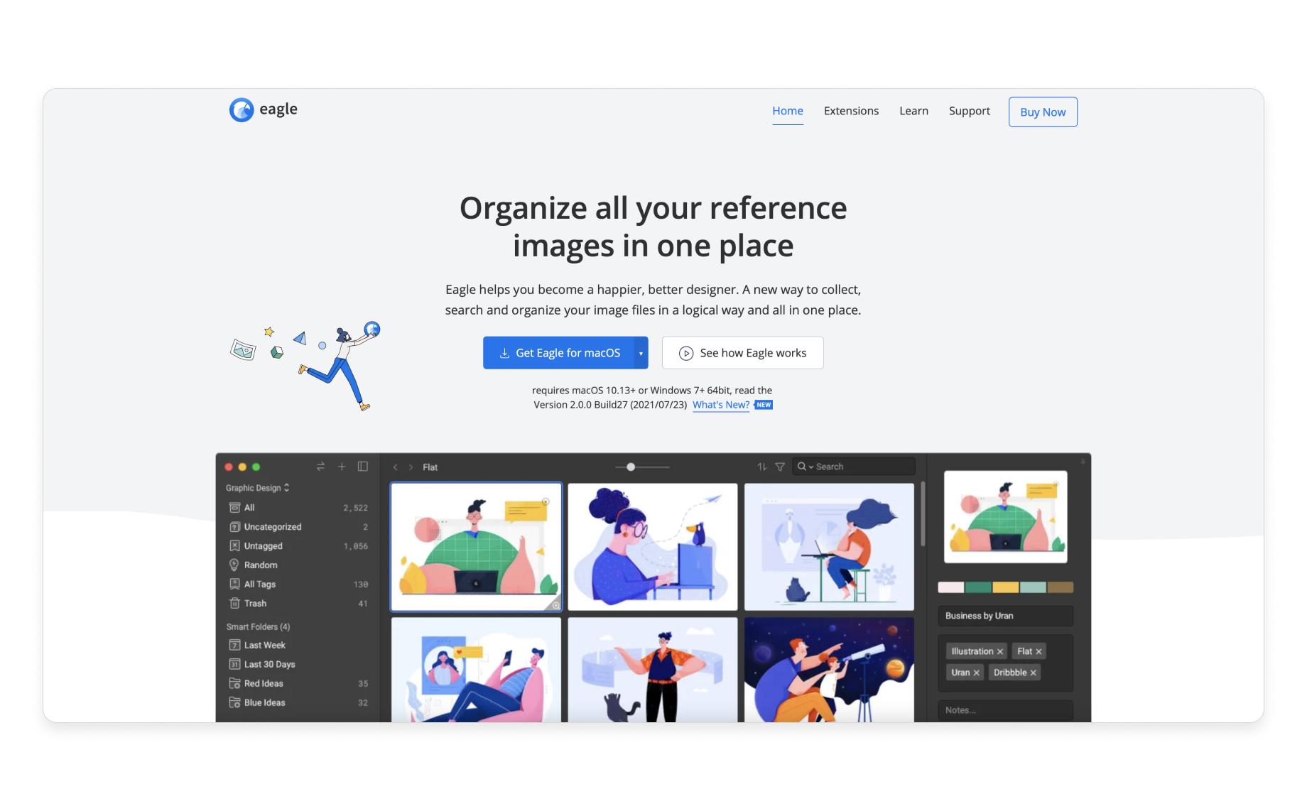 Eagle - organize your design inspiration