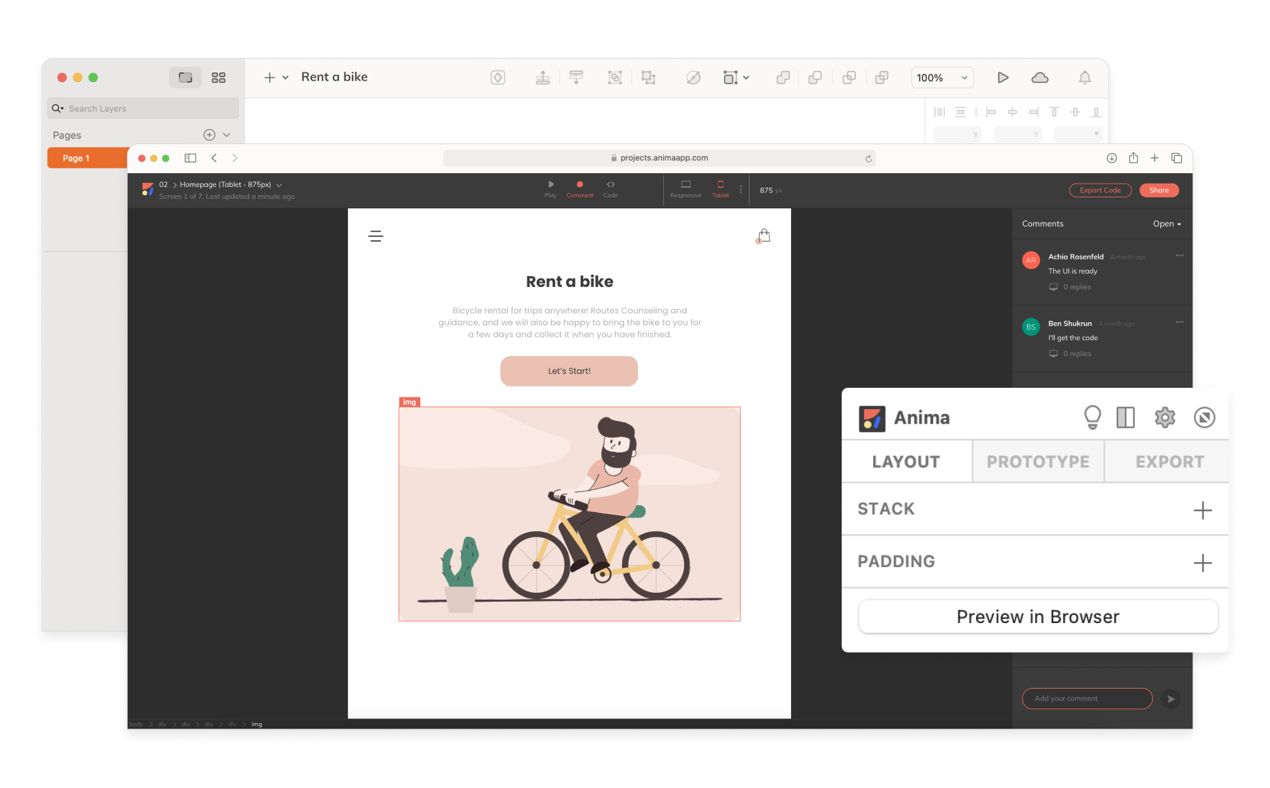 Collaborating in Figma, Adobe XD & Sketch with Anima
